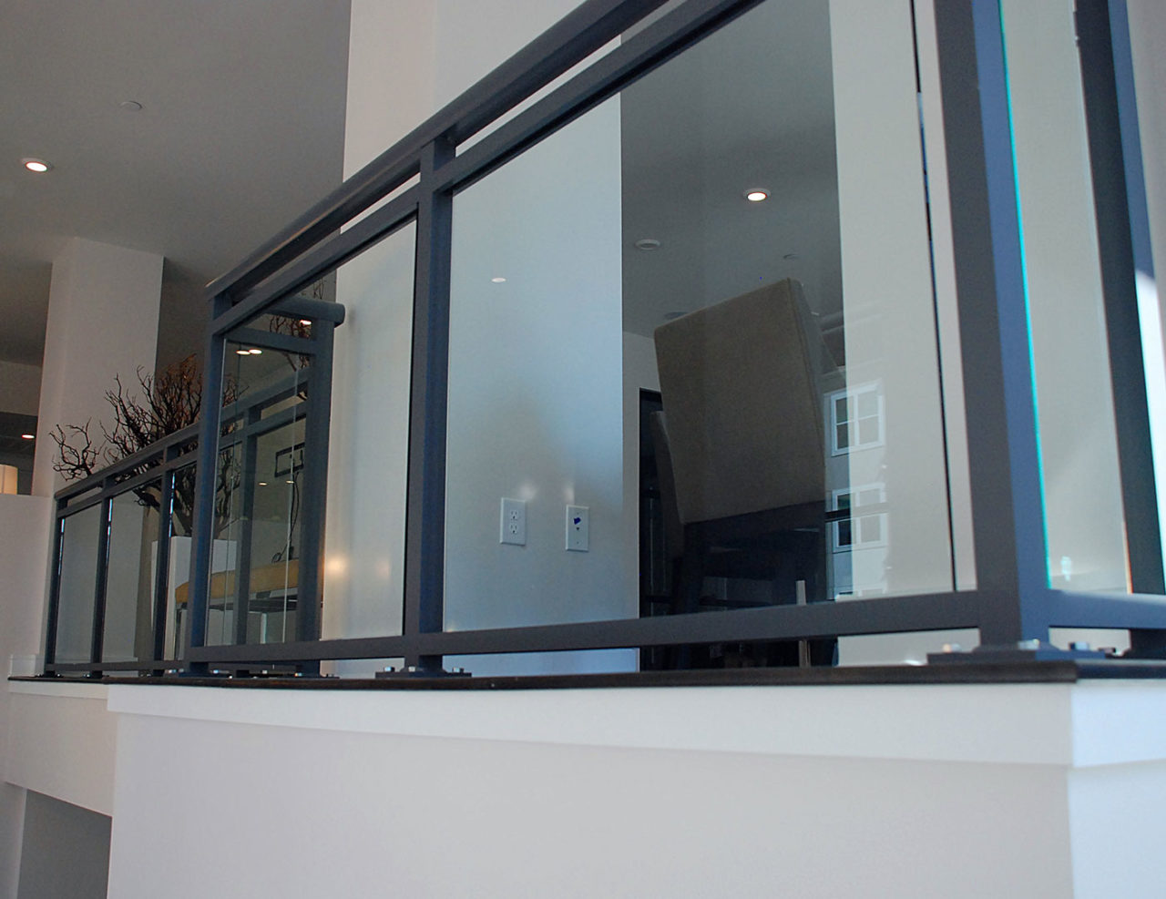 Aluminum balcony railing lofts at seigle point sc railing for Glass balcony