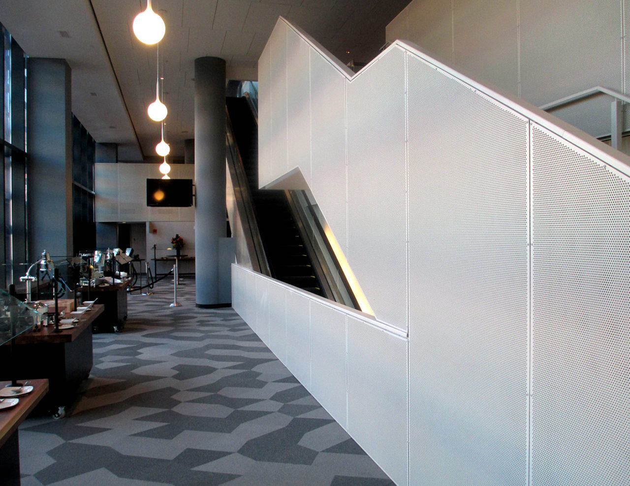 Custom aluminum perforated panel wall