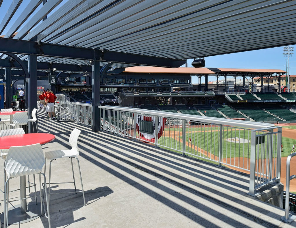 Triple-A Ballpark used Classic Picket Railing