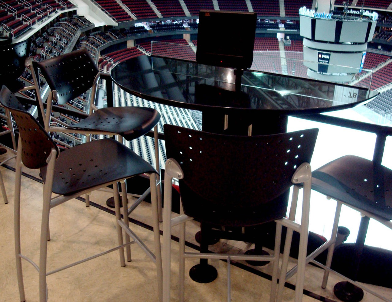 Custom designed electrical four seat tables for VIP seating