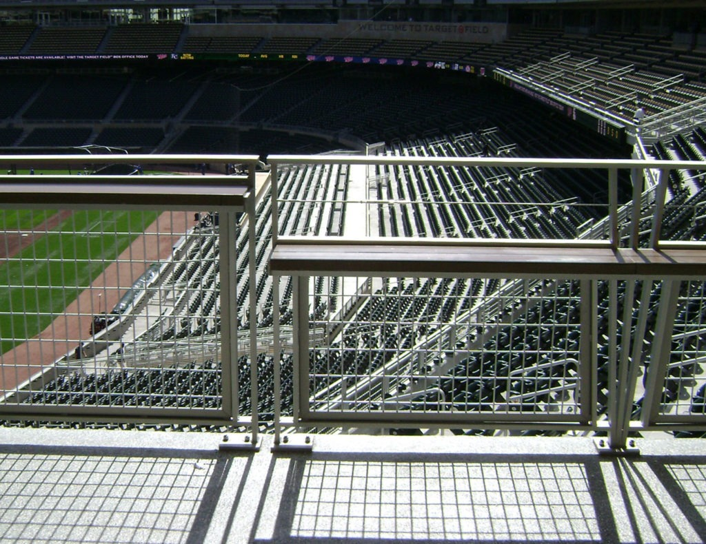 Custom mesh and cable railing
