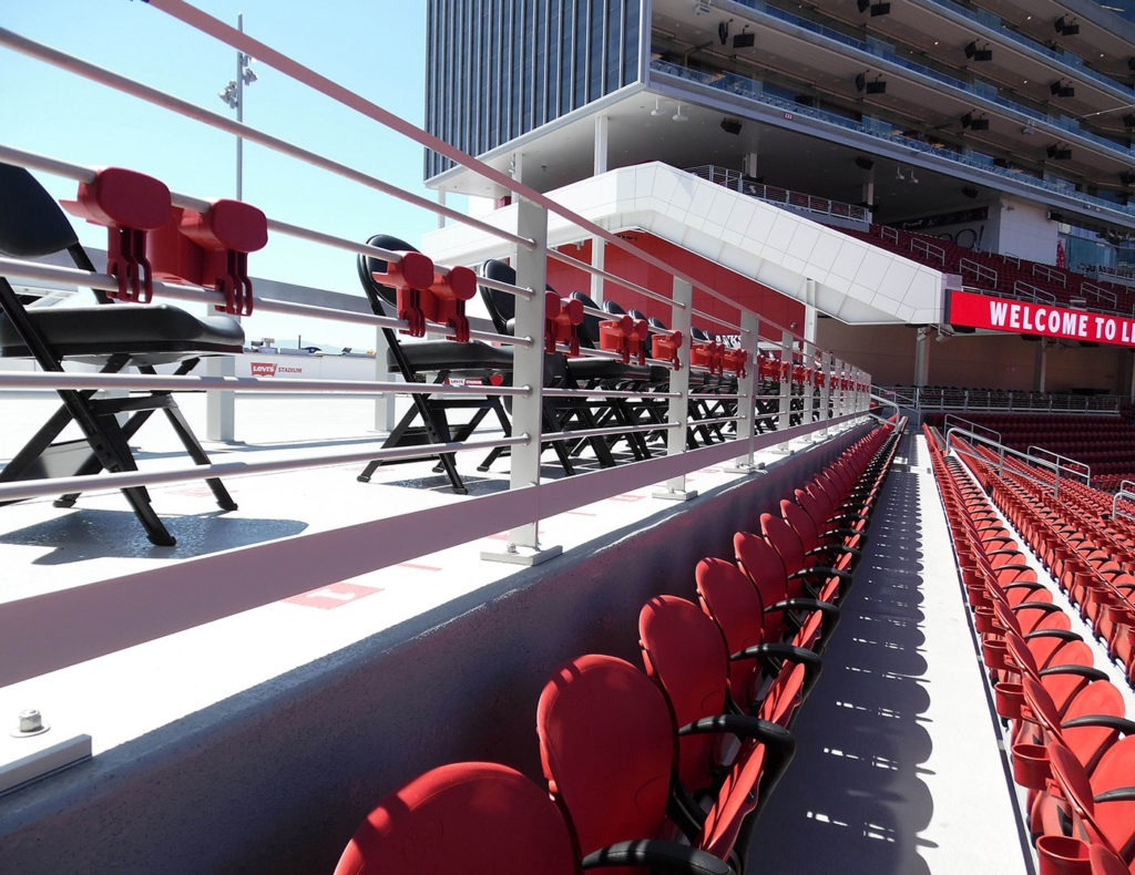 NFL Stadium uses aluminum Classic Picket railing