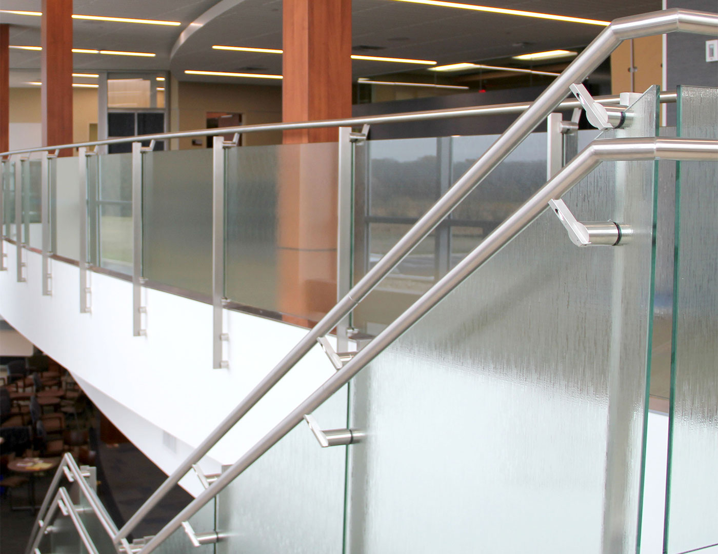 Clear tempered glass railing system