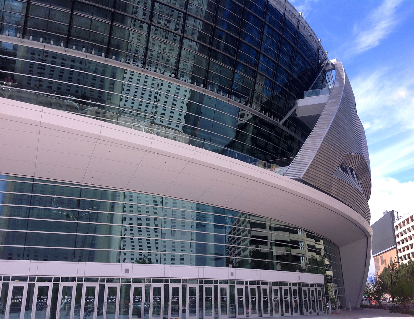 Railings play a crucial role in T-Mobile Arena's safety