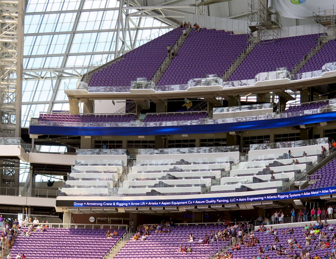 U S Bank Stadium together with Custommetalstairsandhandrails likewise Index together with U S Bank Stadium moreover Wrought Iron Railings. on aluminum picket railing system