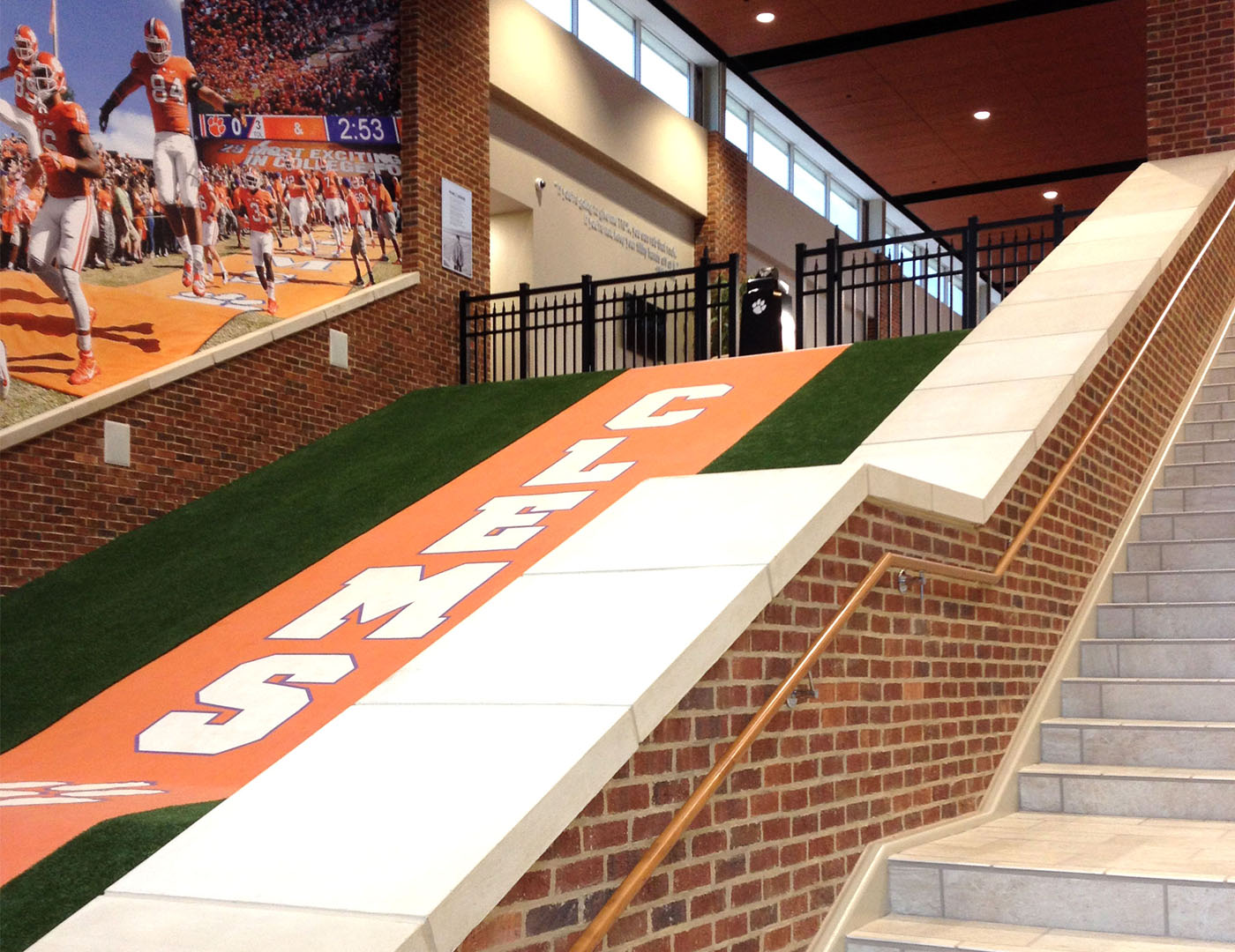 clemson_football_operations_custom_ornamental_railing